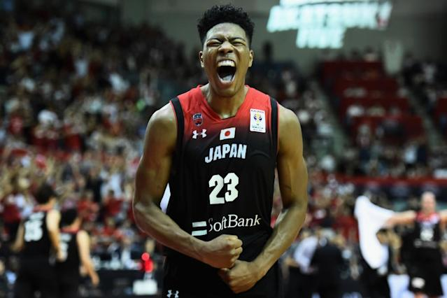 """<span class=""""element-image__caption"""">Japan will rely heavily on Rui Hachimura, who was chosen by the Washington Wizards in June's NBA draft.</span> <span class=""""element-image__credit"""">Photograph: Matt Roberts/Getty Images</span>"""