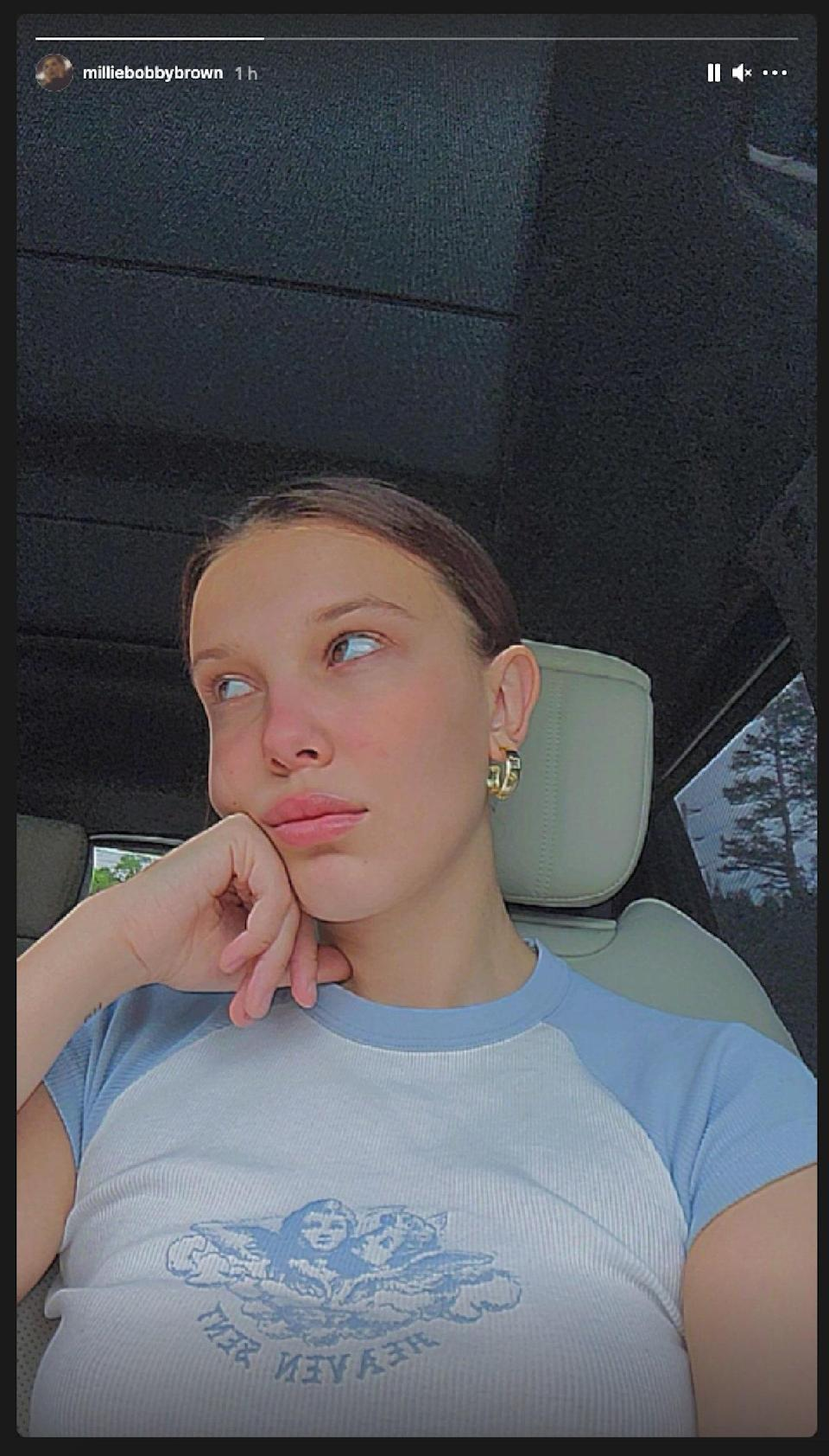 """<cite class=""""credit"""">Screenshot. Courtesy of Millie Bobby Brown/Instagram @MillieBobbyBrown</cite>"""