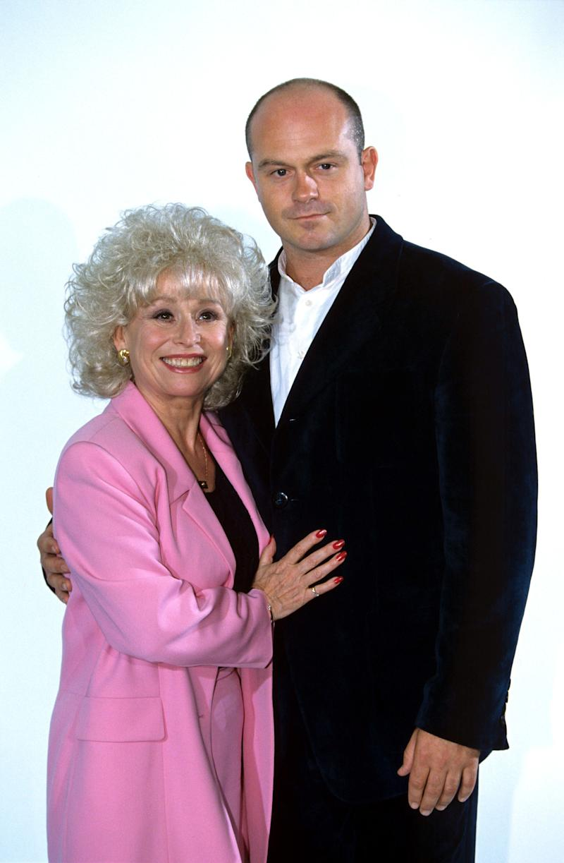 With 'EastEnders' co-star Ross Kemp in 1996.