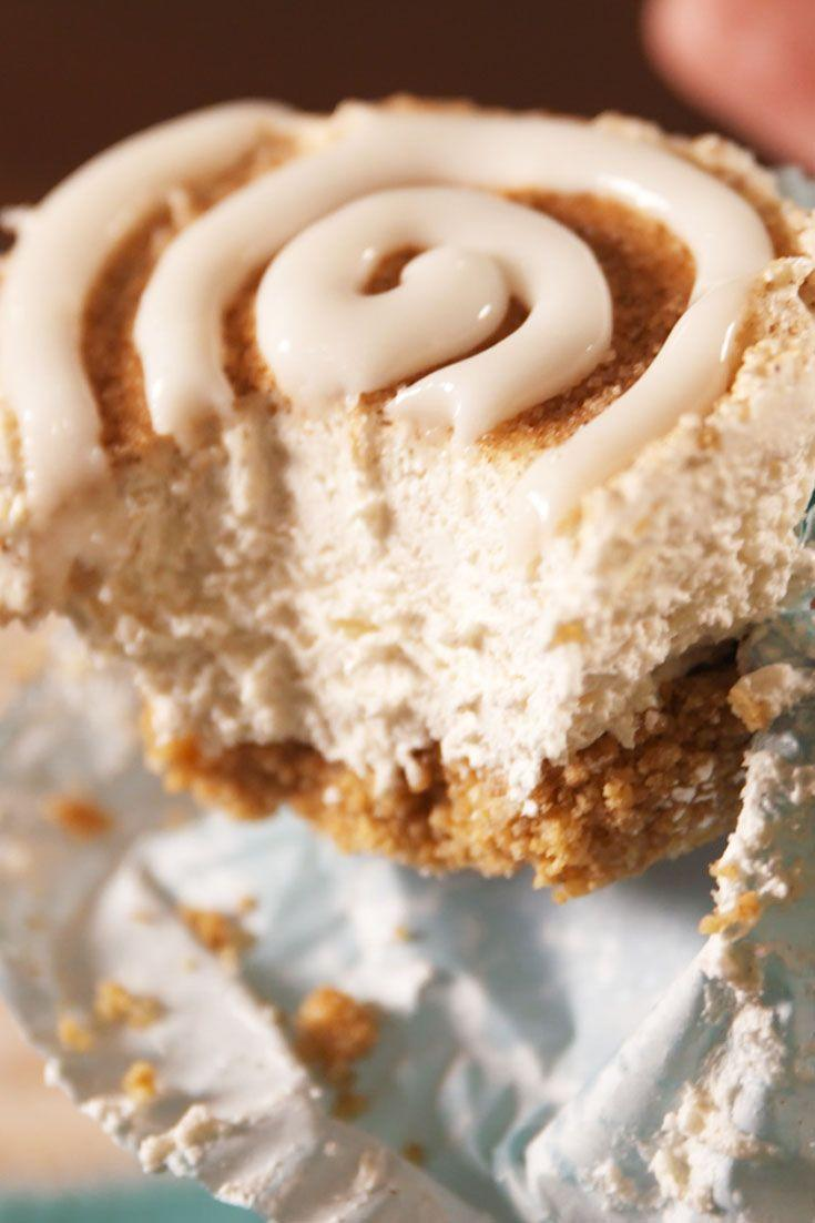 """<p>If a churro and a cheesecake had a baby, this would be it.</p><p>Get the recipe from <a href=""""/cooking/recipe-ideas/recipes/a53424/mini-churro-cheesecakes-recipe/"""" data-ylk=""""slk:Delish"""" class=""""link rapid-noclick-resp"""">Delish</a>.</p>"""