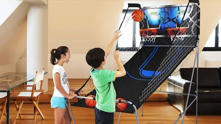 Basketball players will love this at-home version of a classic arcade game.