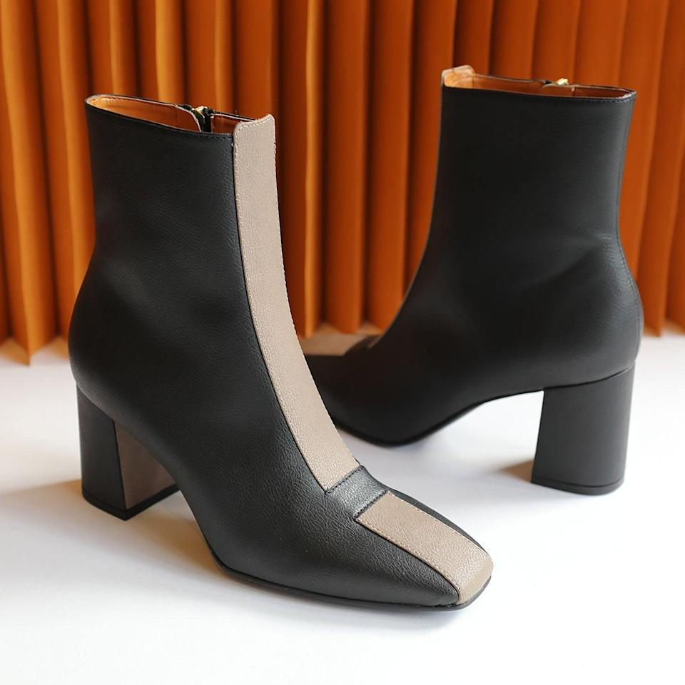<p>These <span>Sylven New York Jayne Boots</span> ($425) are made from eco-friendly vegan leather, making them a stylish accessory that helps preserve the environment.</p>