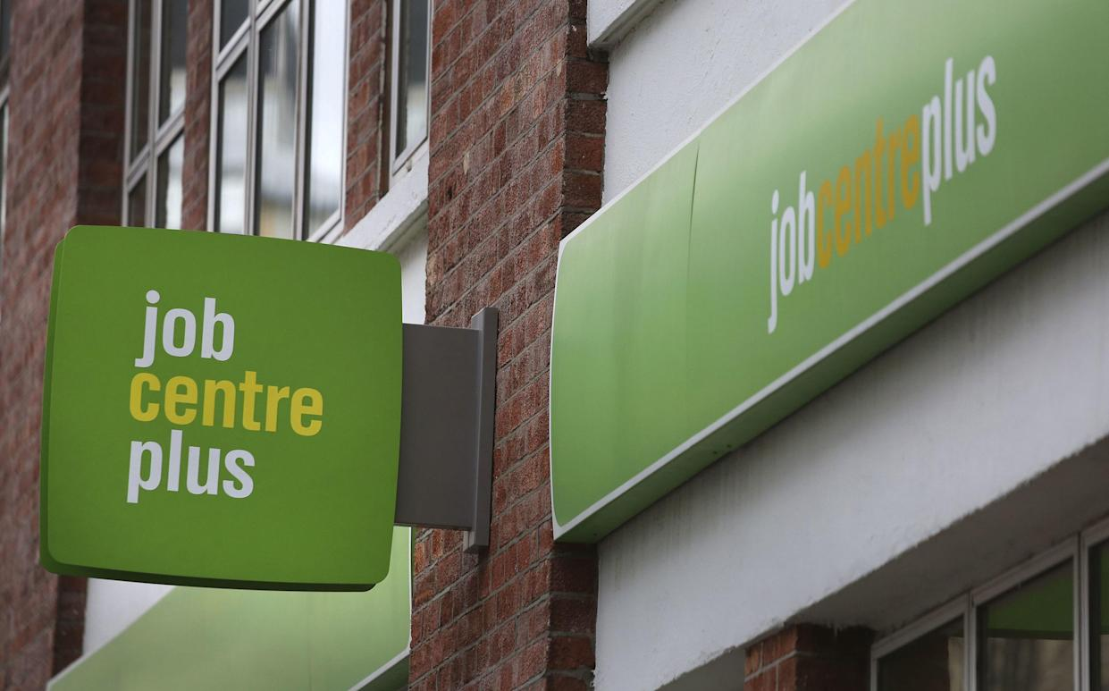File photo dated 17/02/16 of a Job Centre Plus in London. Britain saw a record 356,000 increase in the number of workers on payrolls last month and vacancies soared as the economy recovered, official figures have shown. Issue date: Thursday July 15, 2021.