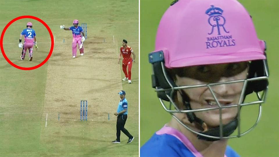 Cricket fans are debating Rajasthan Royals captain Sanju Samson's call to send Chris Morris back to the non-striker's end for the final ball of their clash against the Punjab Kings, which they lost. Pictures: IPL 2021