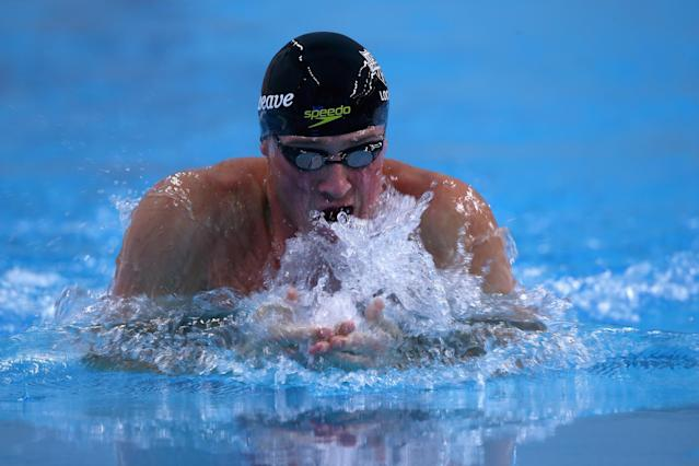 AUSTIN, TX - JANUARY 17: Ryan Lochte swims in the Men's 100 meter breaststroke during the Arena Pro Swim Series at Austin on January 17, 2016 in Austin, Texas. (Photo by Ronald Martinez/Getty Images)