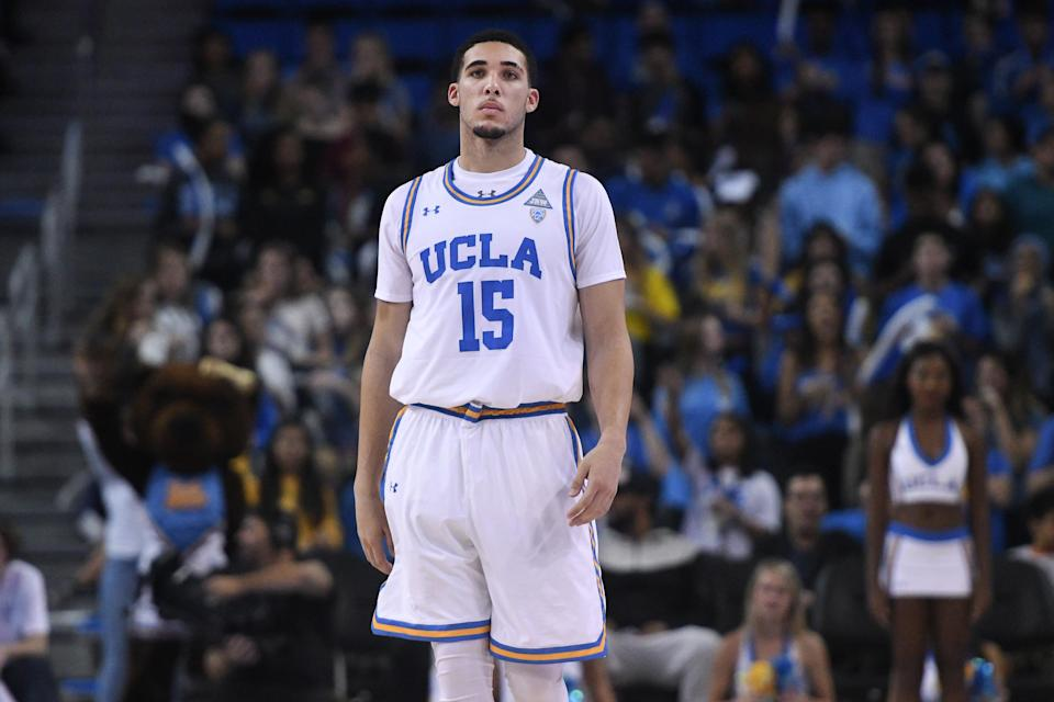 LiAngelo Ball and two other UCLA freshmen reportedly were arrested for shoplifting in China. (Getty Images)