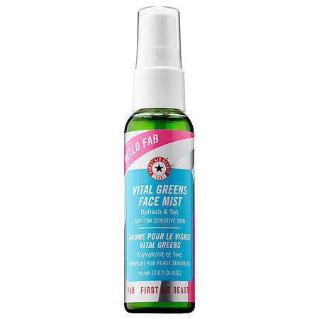This cooling facial mist is infused with a slew of green superfoods (kale, spinach) that'll protect your skin and prep it for longer makeup wear.