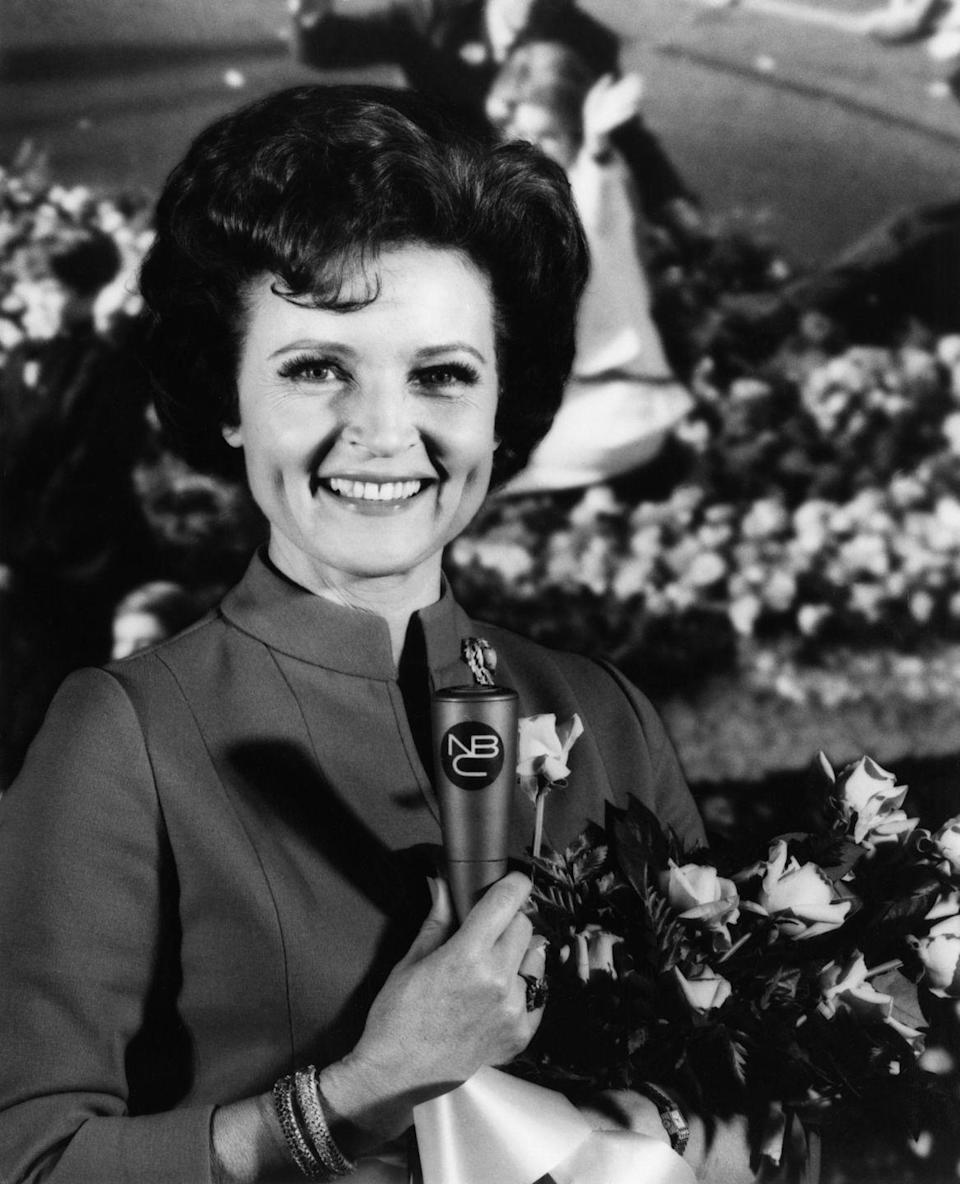 <p>White was the hostess with the mostess. Here she's seen narrating the 80th Annual Tournament of Roses Parade, but she also frequently gave a play-by-play of the Macy's Thanksgiving Day parade as well. </p>