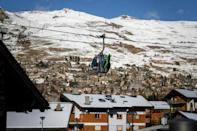 A gondola in the Alpine resort of Verbier, a favourite with British tourists but which this year will see little activity