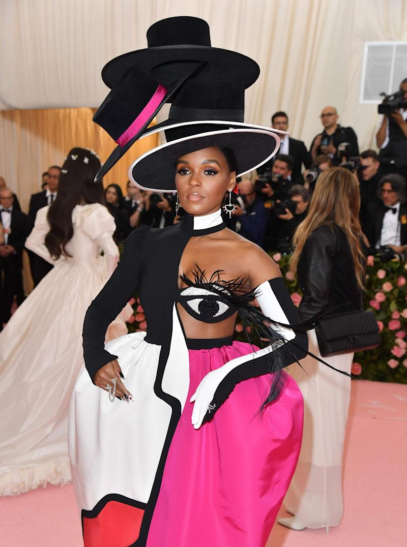 Janelle Monae's innovative look was by Christian Siriano (AFP/Getty Images)