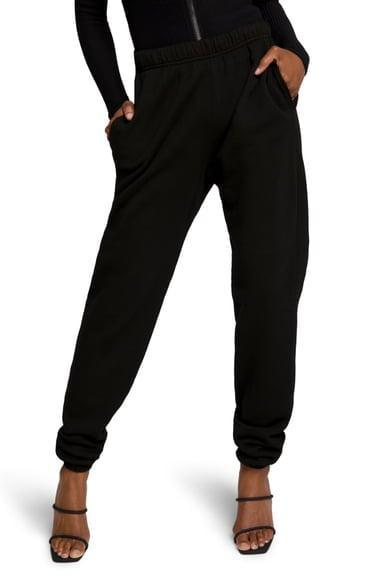 <p>The matching <span>Good American Boyfriend Sweatpants</span> ($75) look just as good with sneakers as they do with heels.</p>
