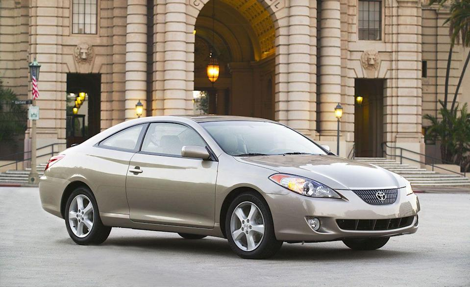 <p>The Camry Solara coupe and convertible were redesigned for 2004, following the sedan's fifth-generation overhaul by a few years. The two-doors' swoopy new styling was distinctive at best and overwrought at worst, but no one could accuse the pair of looking anything like the sedan. The same year, Toyota extended the Solara's more powerful 3.3-liter V-6 engine option to the Camry SE sedan.</p>