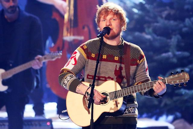 "<p>The British star's third album, <em>÷</em>, spent two weeks at No. 1 on the Billboard 200 and spawned three top 10 hits on the Hot 100: ""Shape of You,"" ""Castle on the Hill"" and ""Perfect."" The only down note: <a href=""https://www.yahoo.com/music/grammy-2018-nomination-snubs-surprises-slideshow-wp-164048072.html"" data-ylk=""slk:The Grammys snubbed Sheeran in its top three categories"" class=""link rapid-noclick-resp"">The Grammys snubbed Sheeran in its top three categories</a>.<br>(Photo: Getty Images) </p>"