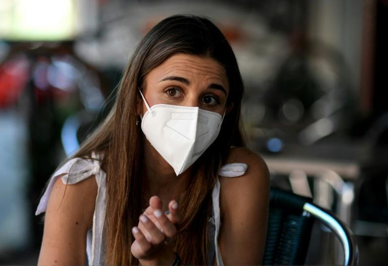 Andrea Lopez Robles, 25, who had a life-saving liver transplant at the age of two, says she won't stop taking anti-Covid precautions until everyone is vaccinated