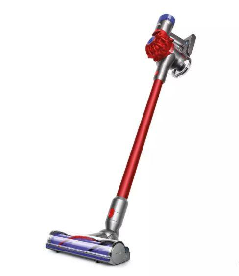 "Get this <a href=""https://goto.target.com/QqVMo"" target=""_blank"" rel=""noopener noreferrer"">Dyson V8 Motorhead Origin Cordfree Vacuum on sale for $300</a> (normally $380) at Target."