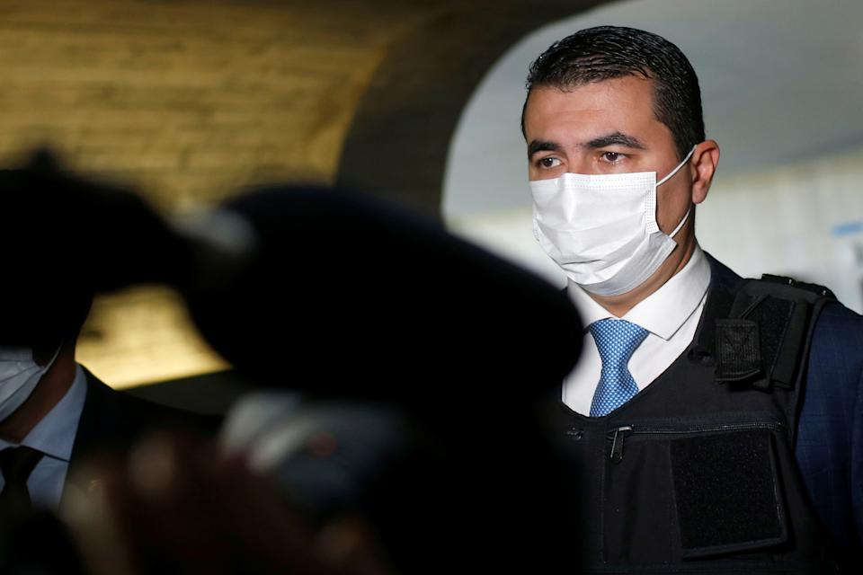 Brazilian Federal Deputy Luis Miranda walks before a meeting of the Parliamentary Inquiry Committee (CPI) to investigate government actions and management during the coronavirus disease (COVID-19) pandemic, at the Federal Senate in Brasilia, Brazil June 25, 2021. REUTERS/Adriano Machado