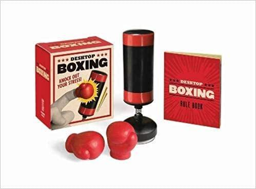 <p>This <span>Desktop Boxing: Knock Out Your Stress! </span> ($10) is perfect for his office.</p>