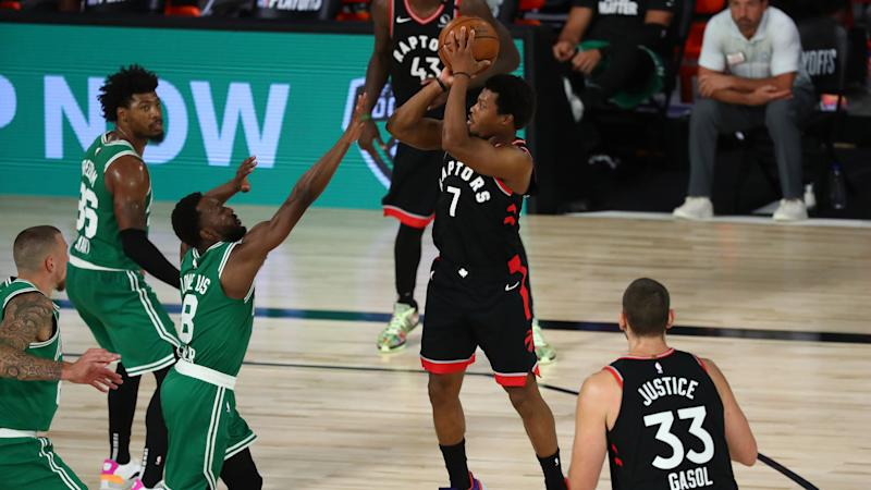 Marcus Smart gets into it with Raptors after Game 6 loss