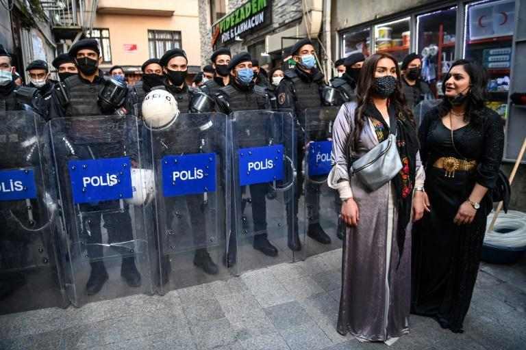 A recent protest for women's rights in Istanbul