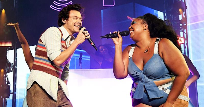 Harry Styles Jumps On Stage To Perform 'Juice' With Lizzo