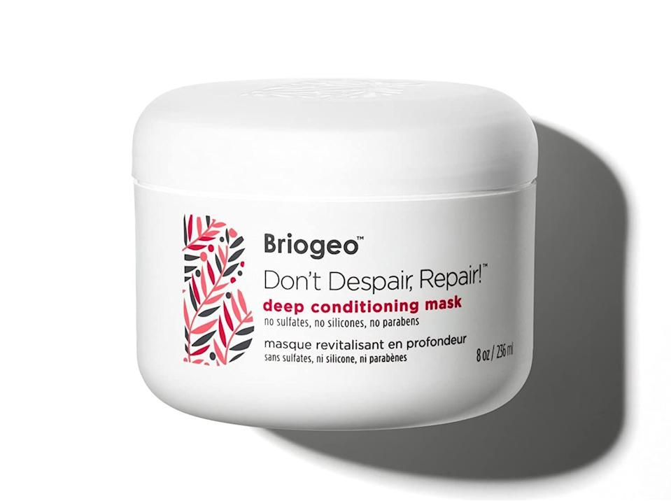 """<p><strong>Briogeo</strong></p><p>amazon.com</p><p><strong>$36.00</strong></p><p><a href=""""https://www.amazon.com/dp/B00J4R760C?tag=syn-yahoo-20&ascsubtag=%5Bartid%7C10055.g.33598763%5Bsrc%7Cyahoo-us"""" rel=""""nofollow noopener"""" target=""""_blank"""" data-ylk=""""slk:Shop Now"""" class=""""link rapid-noclick-resp"""">Shop Now</a></p><p>Briogeo is well-known for their deep conditioning products, but not everyone knows that it's Black-owned. Reviewers especially love this hydrating mask, which is meant to treat dry and damaged hair. It <strong>contains no sulfates, silicones, or parabens.</strong> The mask also works well to protect from future damage, no matter if you have straight or curly hair. </p>"""