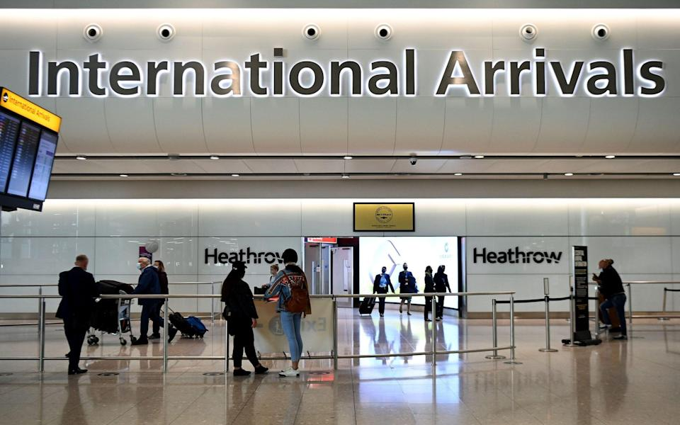 Most of Europe is likely to be given 'amber' status, requiring 10-day home quarantine and PCR tests when travellers return to the UK - Andy Rain/EPA-EFE/Shutterstock