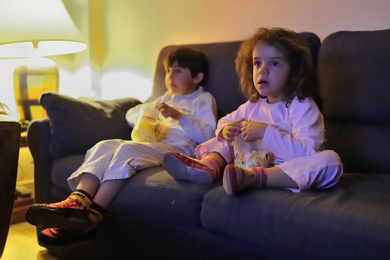 """<p>Watching scary movies at a young age can have two results. You either become a horror movie aficionado as an adult, or you refuse to watch any scary movies because <em>The Shining</em> scarred you for life. </p><p>Instead of traumatizing your kids with a horror film that may not be age appropriate, try streaming some scary movies for kids that give them just enough fright. These kid-friendly horror movies have just enough scary elements to give them a spook, but not so much that they'll be up all night. And it doesn't matter if they are into animated movies, like <em>The Nightmare Before Christmas</em>, or something that imitates """"real life,"""" like <em>The Haunted Mansion</em>, they'll enjoy <a href=""""https://www.womansday.com/life/g3104/kids-halloween-movies/"""" target=""""_blank"""">these scary movies</a> for kids just the same. </p><p>So when they ask for something scary to watch this <a href=""""https://www.womansday.com/home/crafts-projects/how-to/g303/10-pumpkin-perfect-patterns-20702/"""" target=""""_blank"""">Halloween</a>, stream these <a href=""""https://www.womansday.com/life/entertainment/g22833169/best-disney-halloween-movies/"""" target=""""_blank"""">scary movies</a> that won't have them crawling into bed with you later that night. You can even share this list with the other moms so you're all on the same page for the next sleepover.</p>"""