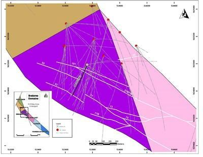 Figure 1: SB-2021-043 hole location within the Bralorne West Block. (CNW Group/Talisker Resources Ltd)