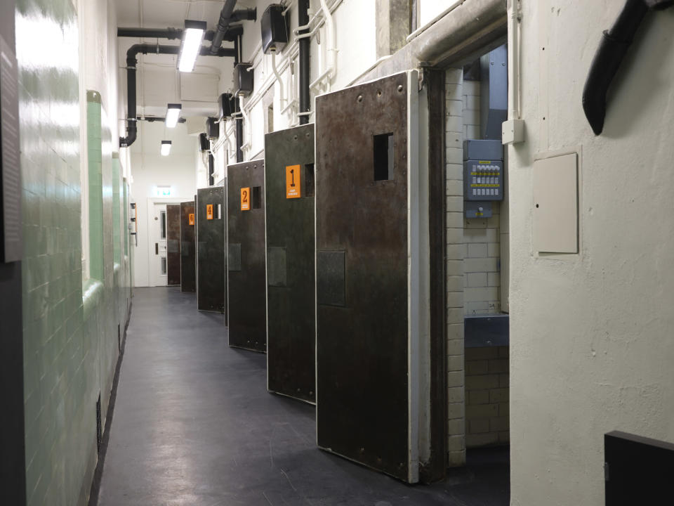 The cells at Bow Street (Cristian Barnett/Bow Street Police Museum/PA)