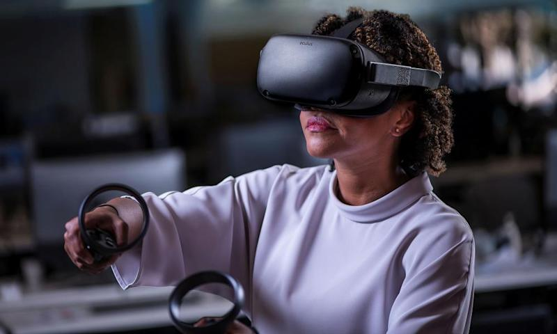 The Oculus Quest is an all-in-one headset, complete with wireless controllers. Perfect for VR on the sofa. Or in bed