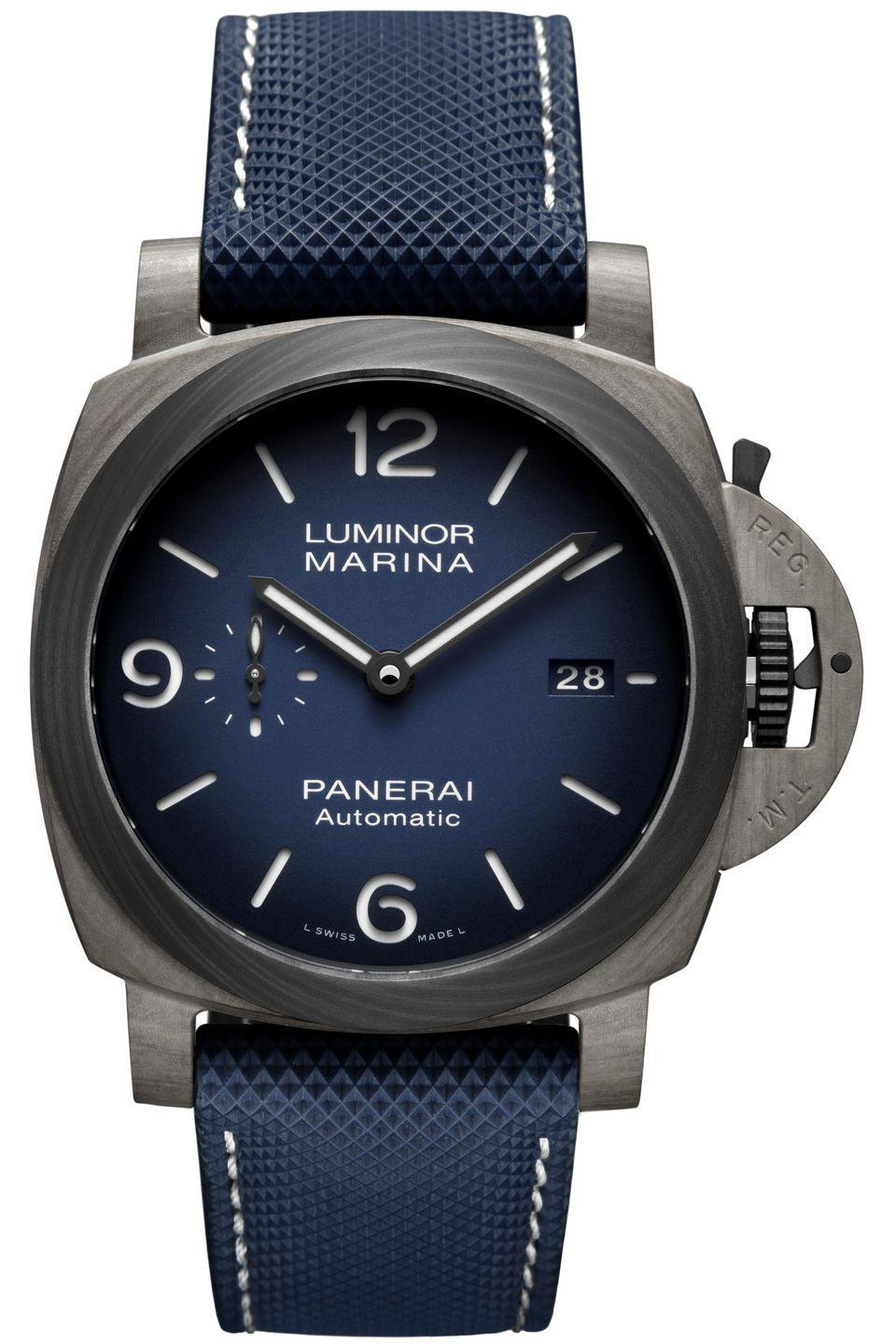 "<p>Panerai has pioneered a new superpower material in watches: Fibertech™, which was unveiled in the Luminor Marina 44 MM. The composite, made from mineral fibers produced by the fusion of basalt rock and bound with polymers, is 60 percent lighter than steel, extremely resilient, and resistant to corrosion. Tested in the aerospace industry, it's proven itself able to withstand the toughest conditions.(<em>Price on request)</em></p><p><a class=""link rapid-noclick-resp"" href=""http://panerai.com/"" rel=""nofollow noopener"" target=""_blank"" data-ylk=""slk:Learn More"">Learn More</a><br></p>"