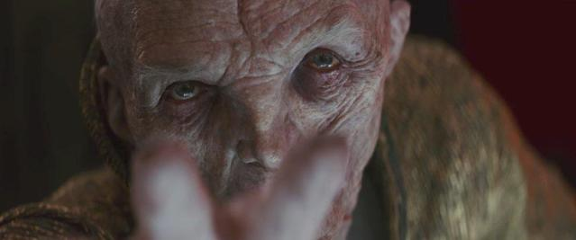 Supreme Commander Snoke in <i>The Last Jedi</i>. (Photo: Lucasfilm)