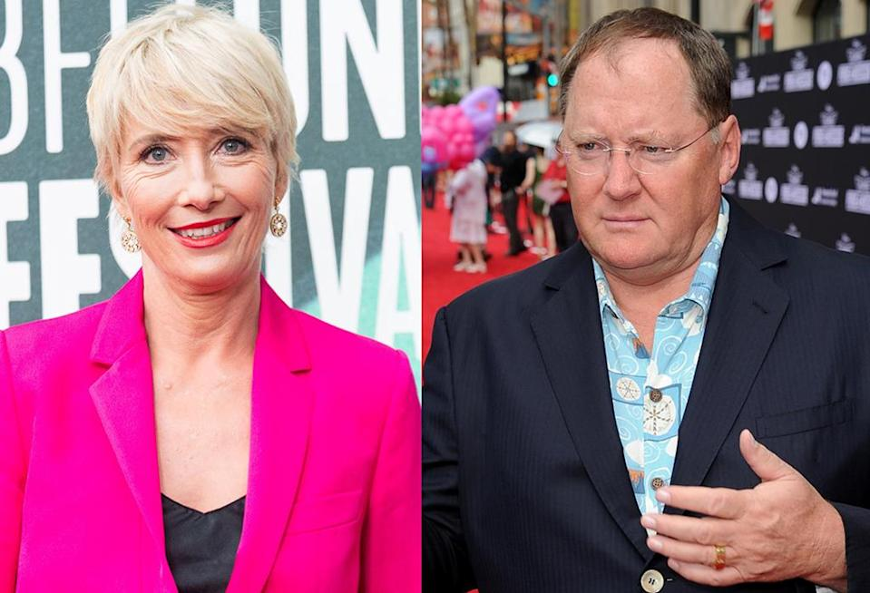 """""""if people who have spoken out — like me — do not take this sort of a stand then things are very unlikely to change at anything like the pace required to protect my daughter's generation,"""" Emma Thompson wrote in a letter detailing her decision not to work for John Lasseter in Skydance Animations film <em>Luck</em>. (Photos: Getty Images)"""