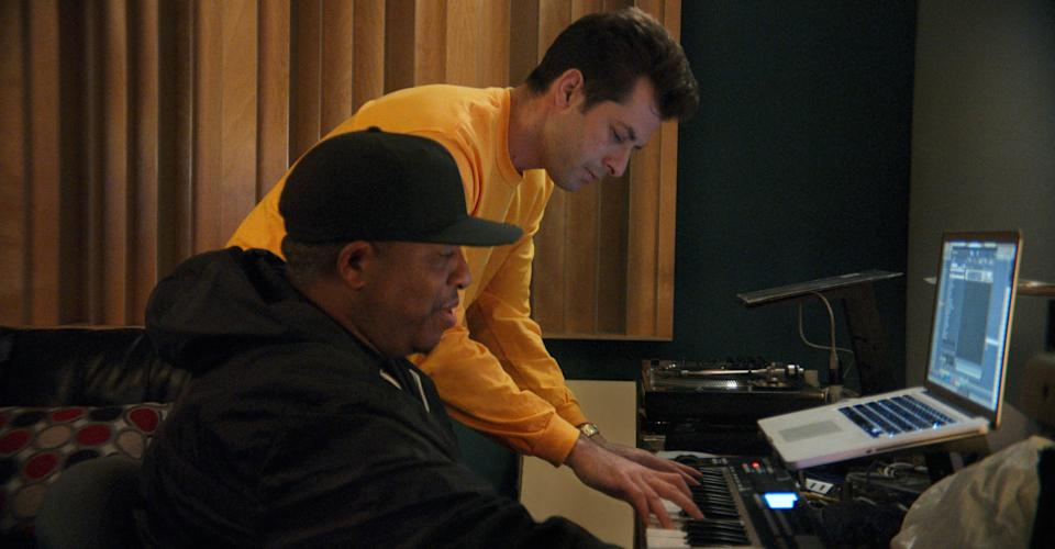 DJ Premier and Mark Ronson in episode two of Watch the Sound.