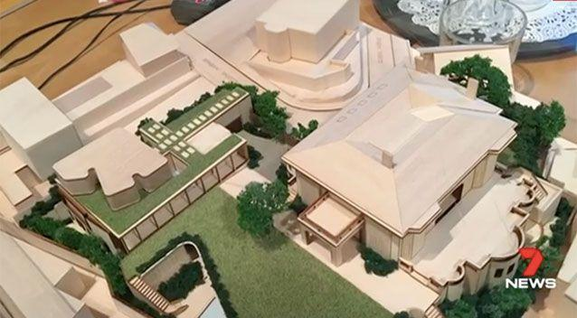 Plans for the house include a 20-seat cinema, an infinity pool and 14 bedrooms. Source: 7 News