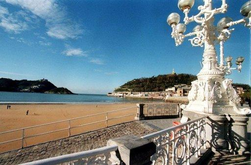 The beach at San Sebastian, Spain. A galaxy of stars including John Travolta and Ewan McGregor will flock to the San Sebastian film festival which gets under way Friday in the northern Spanish coastal city