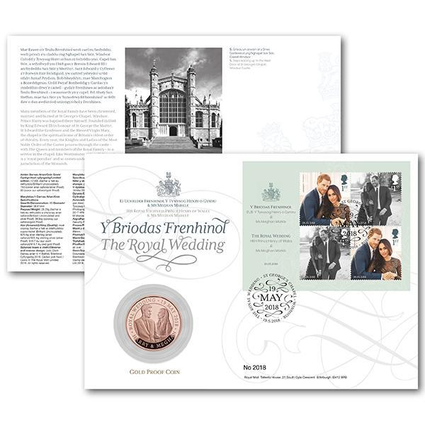 Royal fans can also preorder a commemorative coin cover in celebration of the upcoming wedding. (Photo: Royal Mail)