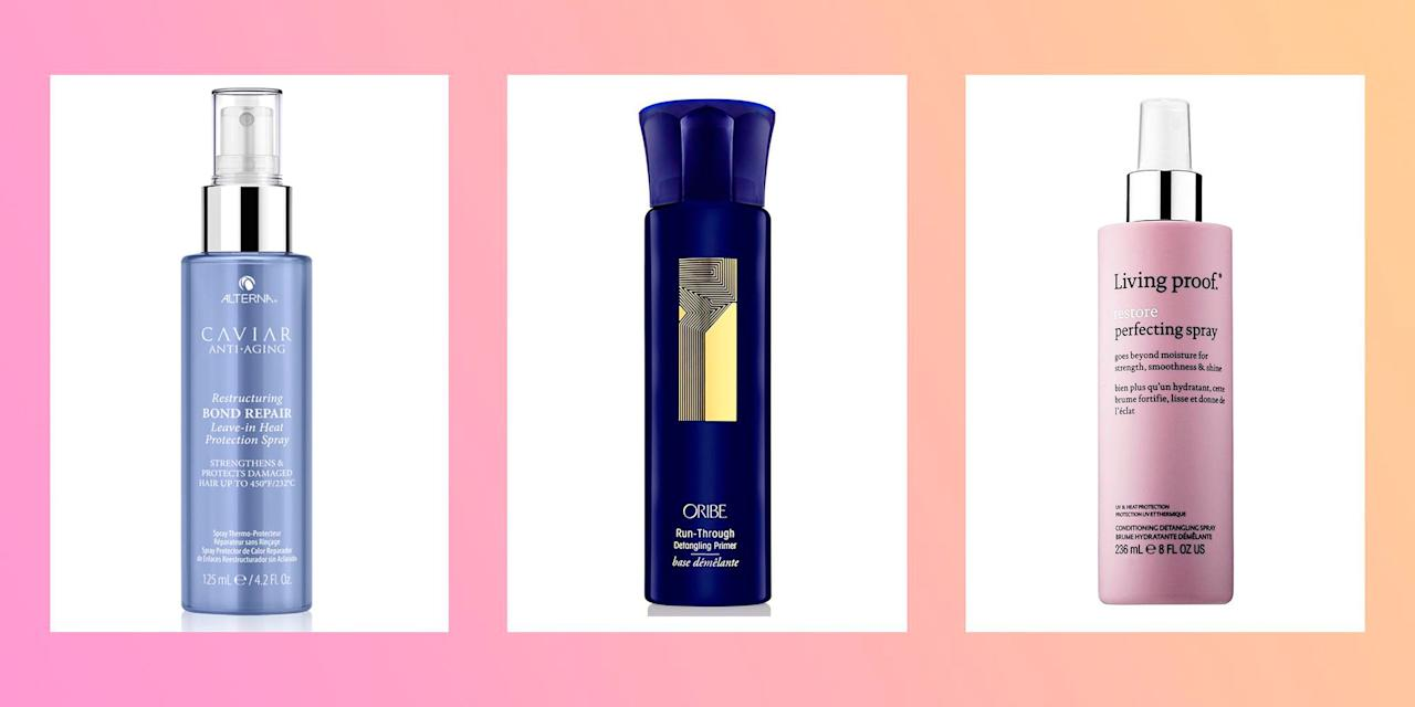 <p>If you've been reaching for the hair straighteners a <em>little</em> too often, then it's time to invest in a heat protection spray (and we've made it oh-so easy to find the best one). Yep, we've rounded up the top-rated thermal hair protectors in the UK, from the likes of ghd, Garnier and Tresemme. So, whether your locks are dry, oily, damaged or colour-treated, there's a heat protector for you...</p>