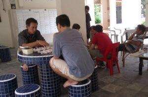 Residents playing chess at an Ang Mo Kio void deck in a 2012 photo. Photo: National Heritage Board
