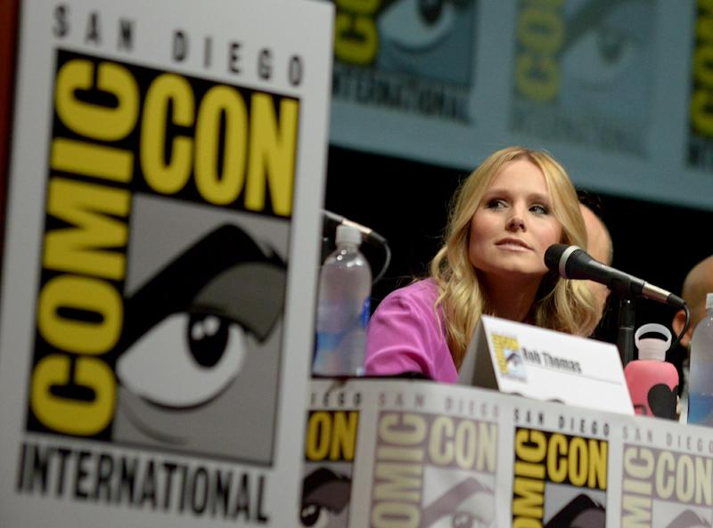 "Kristen Bell participates in the ""Veronica Mars"" panel on Day 3 of Comic-Con International on Friday, July 19, 2103, in San Diego. (Photo by Jordan Strauss/Invision/AP)"