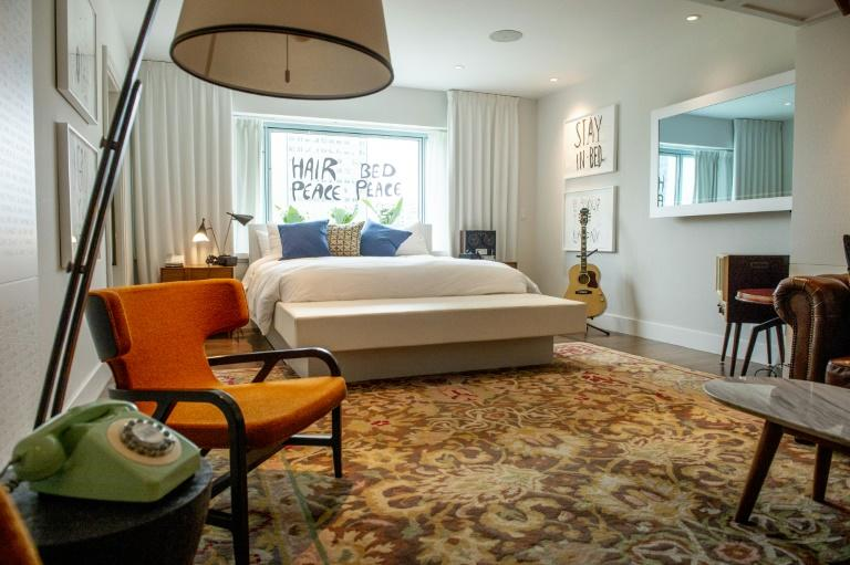 John Lennon and Yoko Ono actually rented four adjacent rooms in The Queen Elizabeth hotel for their stay in 1969, but the rooms have since been combined into a single 1,400-square-foot suite