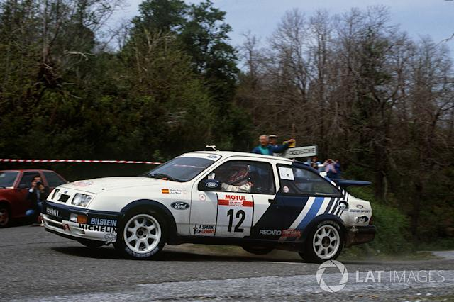 "Carlos Sainz, Luis Moya, Ford Sierra RS Cosworth <span class=""copyright"">LAT Images</span>"