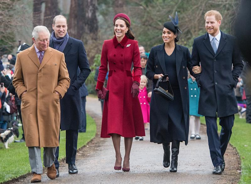 The Royals at Sandringham in 2018.  (Photo: Samir Hussein via Getty Images)