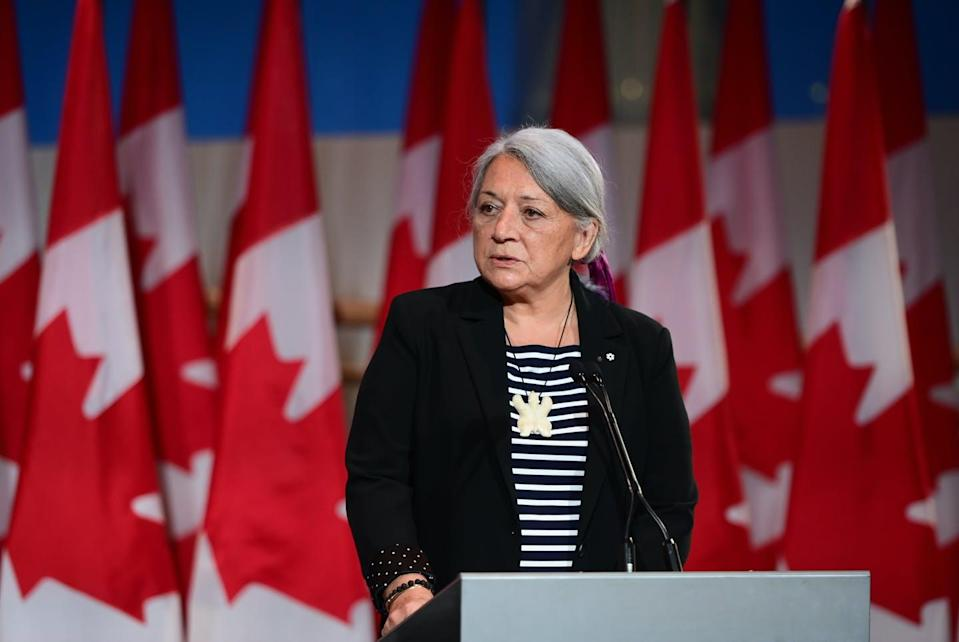 """<span class=""""caption"""">Mary Simon is an Inuk leader and former Canadian diplomat. She has been named as Canada's next governor general — the first Indigenous person to serve in the role. </span> <span class=""""attribution""""><span class=""""source"""">THE CANADIAN PRESS/Sean Kilpatrick</span></span>"""