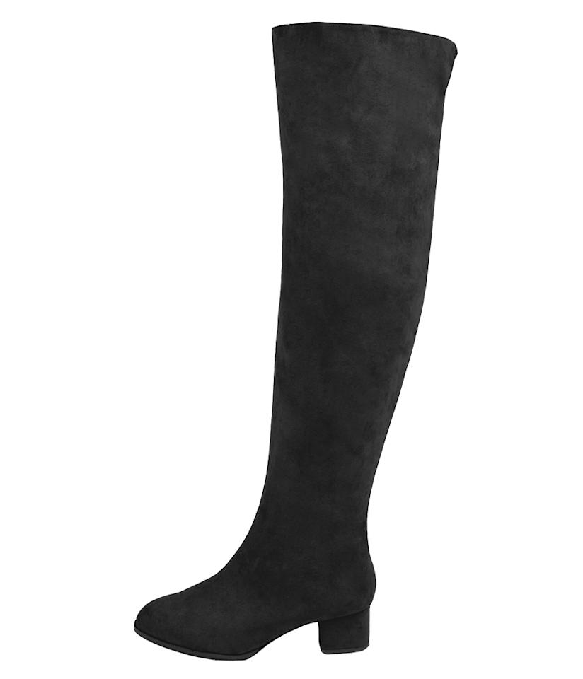 """<p>$139.90, <a rel=""""nofollow"""" href=""""http://www.eloquii.com/over-the-knee-block-heel-boot/1593742.html?cgid=all-shoes&start=1&dwvar_1593742_colorCode=100&ppid=c1"""">Eloquii</a> </p>"""