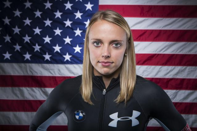 Olympic bobsledder Katie Eberling poses for a portrait during the 2013 U.S. Olympic Team Media Summit in Park City, Utah