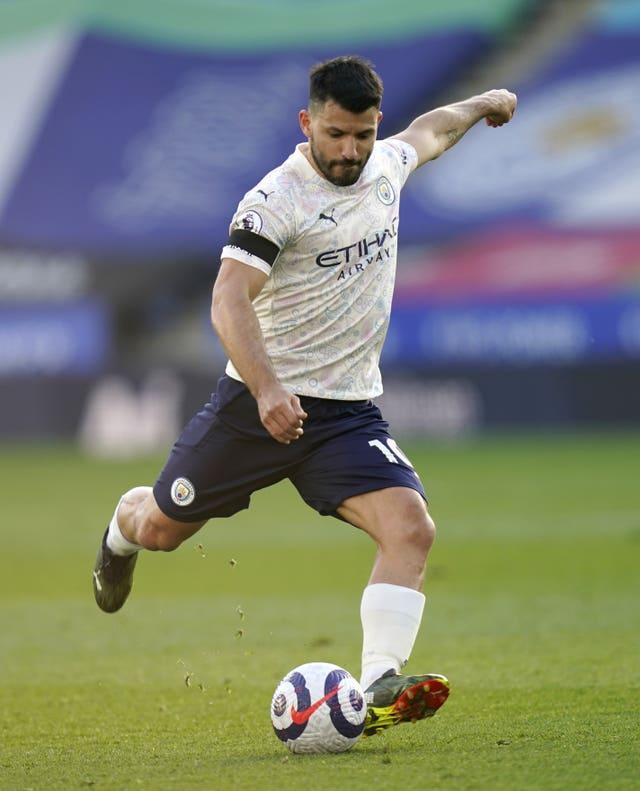 Aguero was in the starting line-up against Leicester last week
