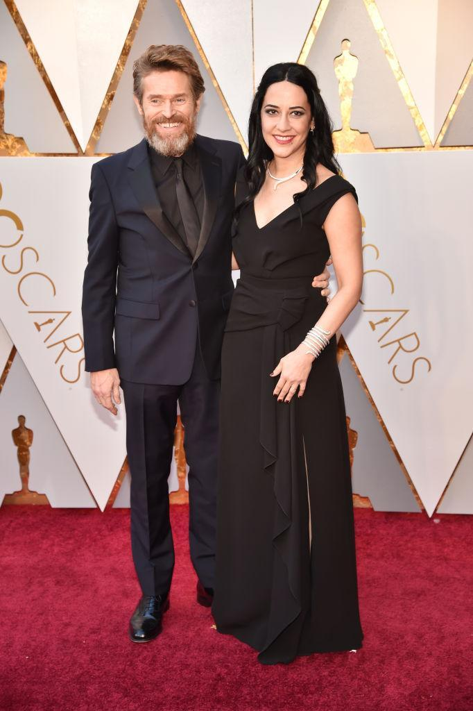 <p>Willem Dafoe and Giada Colagrande attend the 90th Academy Awards in Hollywood, Calif., March 4, 2018. (Photo: Getty Images) </p>
