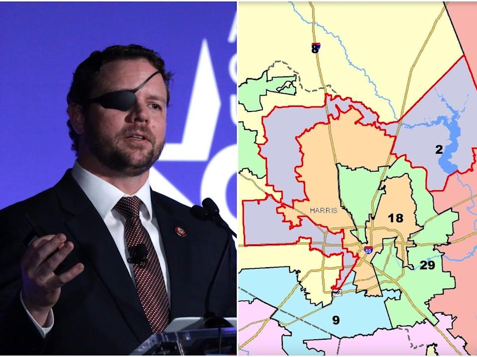 Republican Rep. Dan Crenshaw of Texas and the 2nd congressional district, which he currently represents.