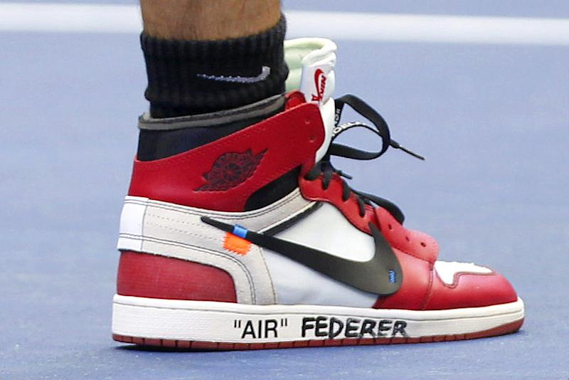 b648348440f Roger Federer Actually Played Tennis in the Off-White x Nike Air Jordan  Shoes